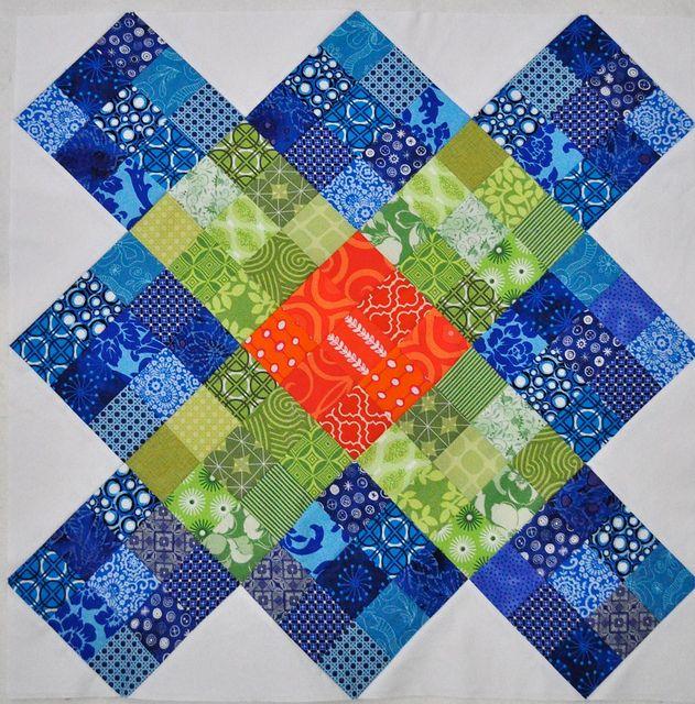 nine patch granny square neat scrap fabric pattern