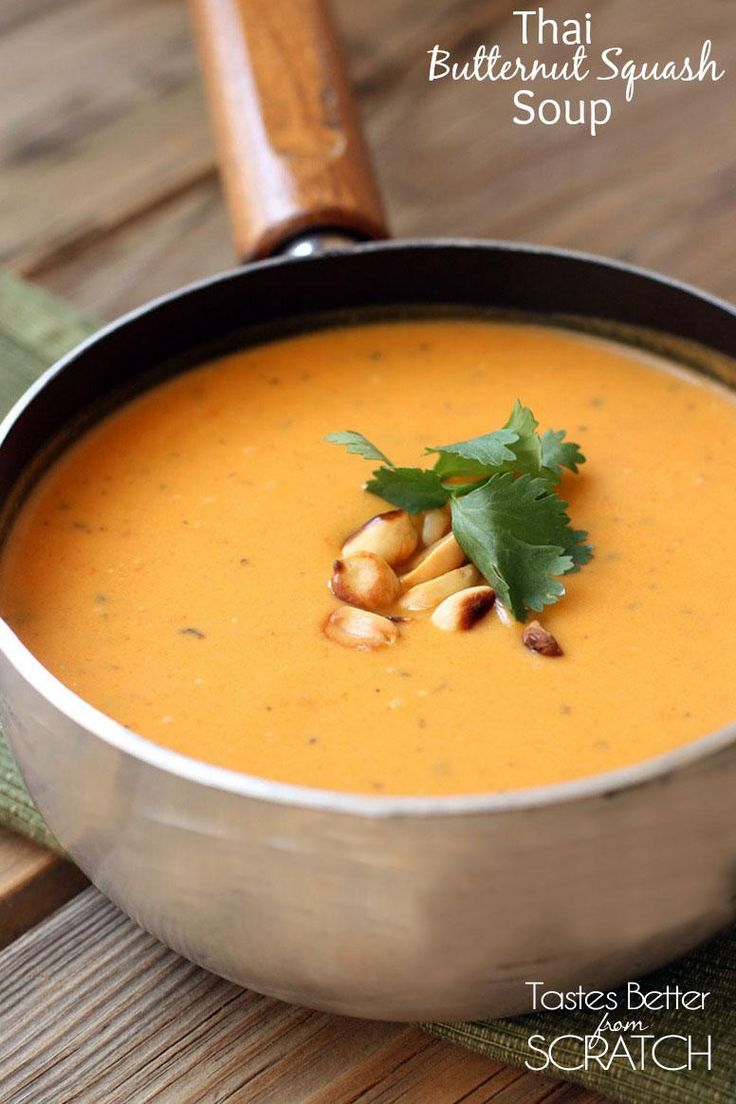 Thai Butternut Squash soup is all of the hidden veggies in it. Squash, carrots, sweet potatoes, and onion. It has the perfect Thai flavor with a nice creaminess from the coconut milk. It's completely delicious!