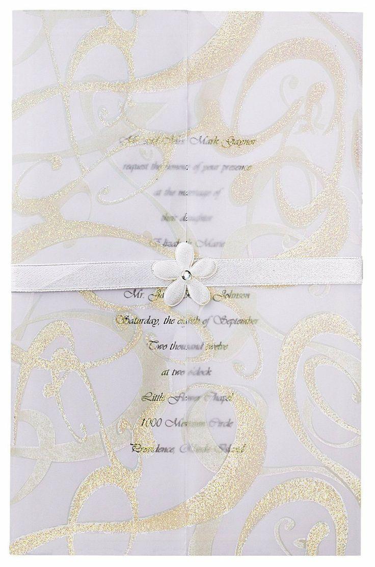 Wilton Glitz And Glamour Wedding Invitation Kit