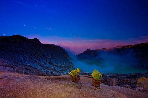 Beautiful Ijen, East Java, Indonesia: