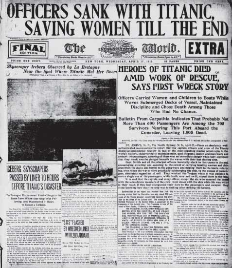 Best Titanic Newspaper Articles Images On   Titanic