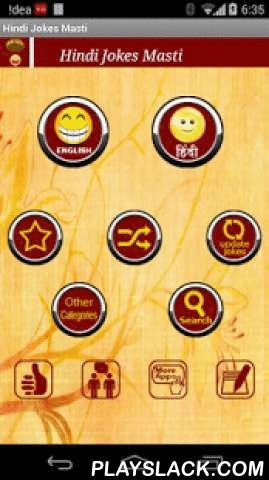 HINDI JOKES MASTI  Android App - playslack.com ,  The funniest jokes app in Hindi! Jokes are listed both in Hindi font and English font and can be shared in a number of ways. Share the jokes through other instant messenger or social networking apps. And all the content is OFFLINE. Save all your favorite jokes in the favorite folder and access them in one touch. You can view and read the jokes without connecting to the internet!Now update the content in the app easily. Just press Update Jokes…