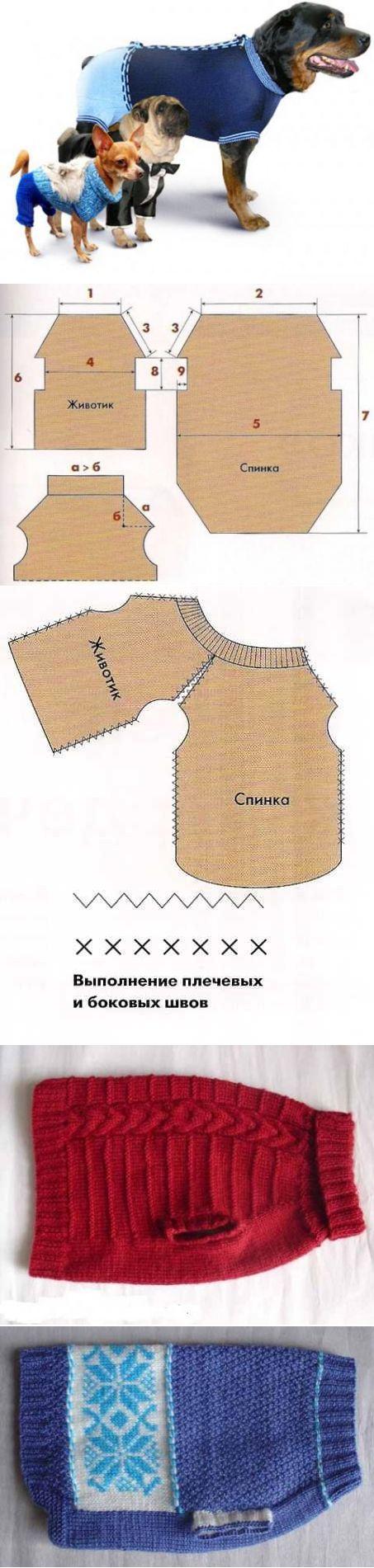 Вязаная одежда для собачек. (выкройки и схемы вязания) » Женский Мир cb11e019fb7