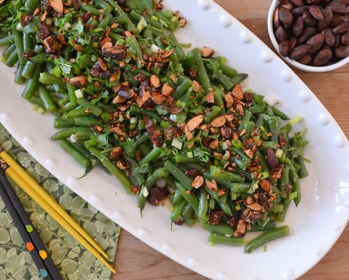 Fresh Green Bean Salad with Asian Dressing ♥ AVeggieVenture.com, re-inventing…