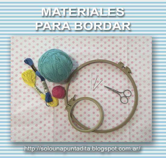 Sólo una puntadita...: Materiales para bordar a mano