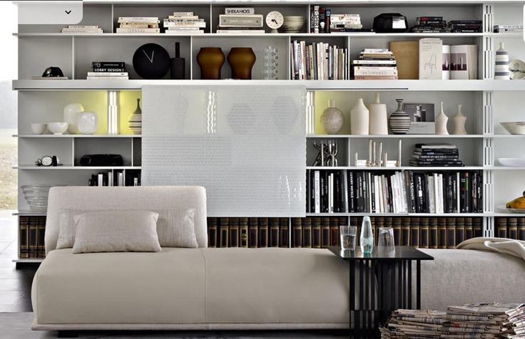 contemporary modular bookcase SEQUENCE by Patricia Urquiola Molteni & C
