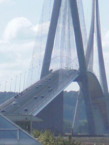 Pont de Normandie Bridge in La Havre, France.