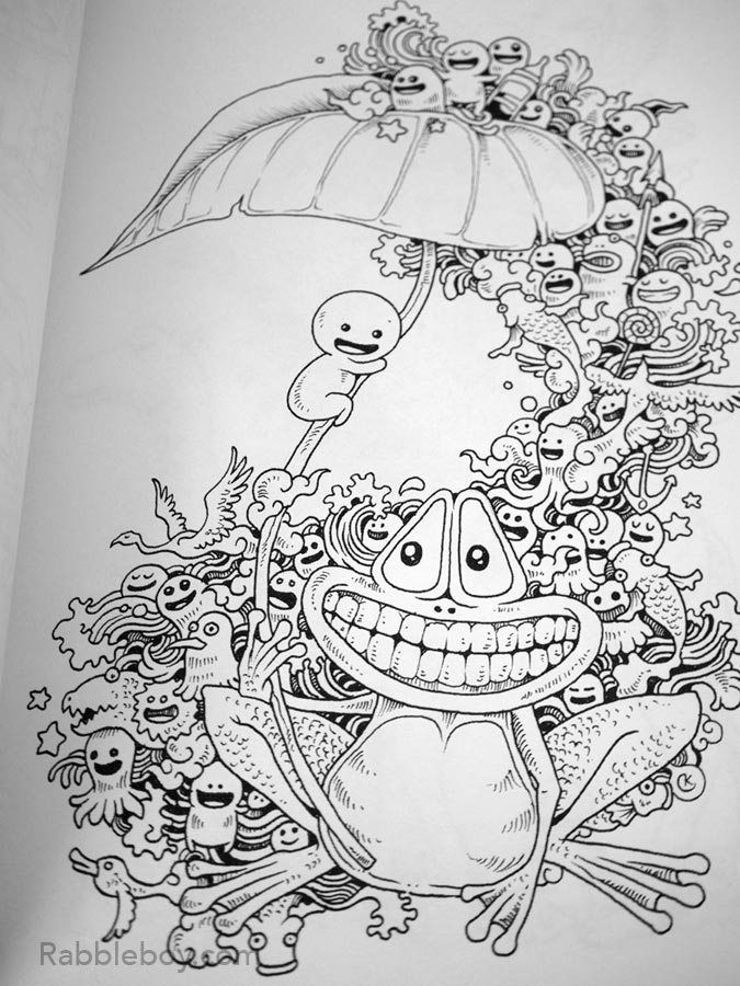 - Doodle Invasion, A Crazy Coloring Book By Kerby Rosanes - Rabbleboy -  Kenneth Lamug Author / Illus… Coloring Books, Monster Coloring Pages,  Designs Coloring Books