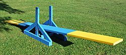 DIY Agility Teeter - looks really easy! and I like that you can change the height!