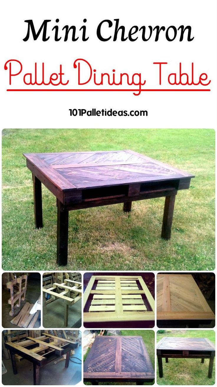 We are going to tell you through this diy pallet dining table tutorial having all ideal and standard dimensions and comes with a chevron filled top that