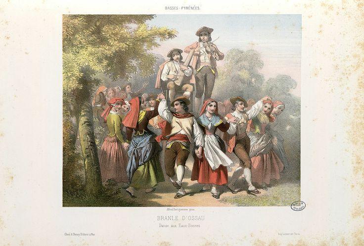 DANCE AUX EAUX BONNES.  Alfred Dartiguenave (1821–1885): Branle d'Ossau