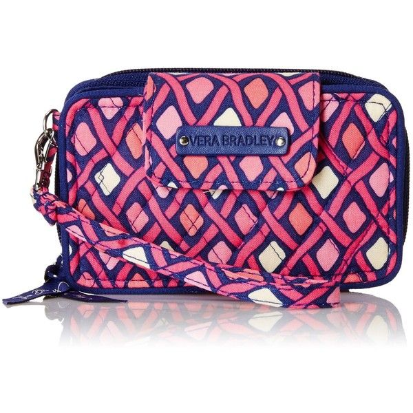 Vera Bradley Smartphone Wristlet 2.1 Wallet ($46) ❤ liked on Polyvore featuring bags, wallets, zip around wristlet wallet, wallet, clothes pin bag, zip-around wallet and wristlet