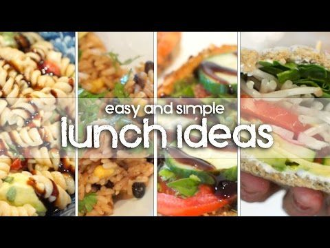 LUNCH IDEAS - My Favorite Vegetarian & Vegan Lunches! - YouTube