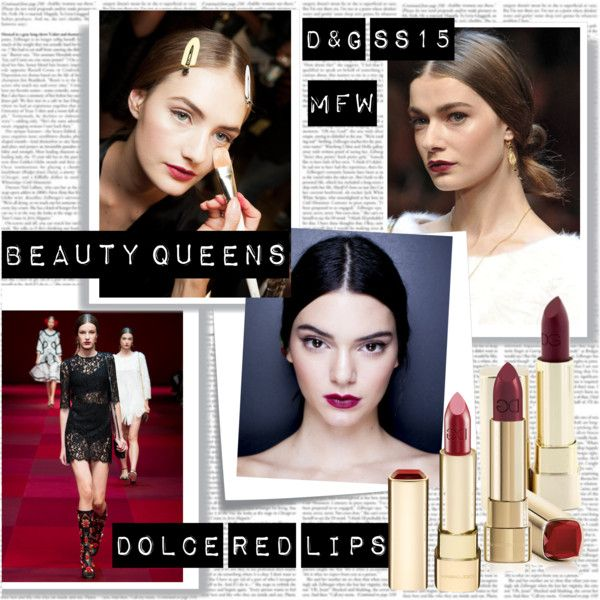 MFW SS15 Beauty Trend Dolce Red Lips