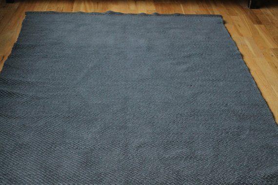 Gray Area Rug 4 X 8 Ft Gray Cotton Rug Washable Rag Rug Hall