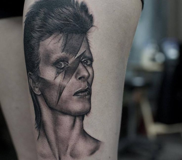 David Bowie Tribute Done By Livia Tsang At Chronic Ink In Toronto Ontario Canada