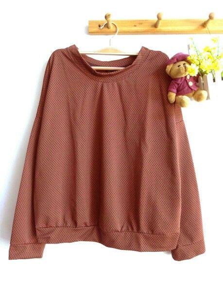 Mini dotty pullover # choco , grey , white #73idr