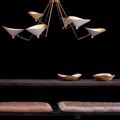 Contemporary chandelier / brass / incandescent DINO by Guillaume Evrard GONG