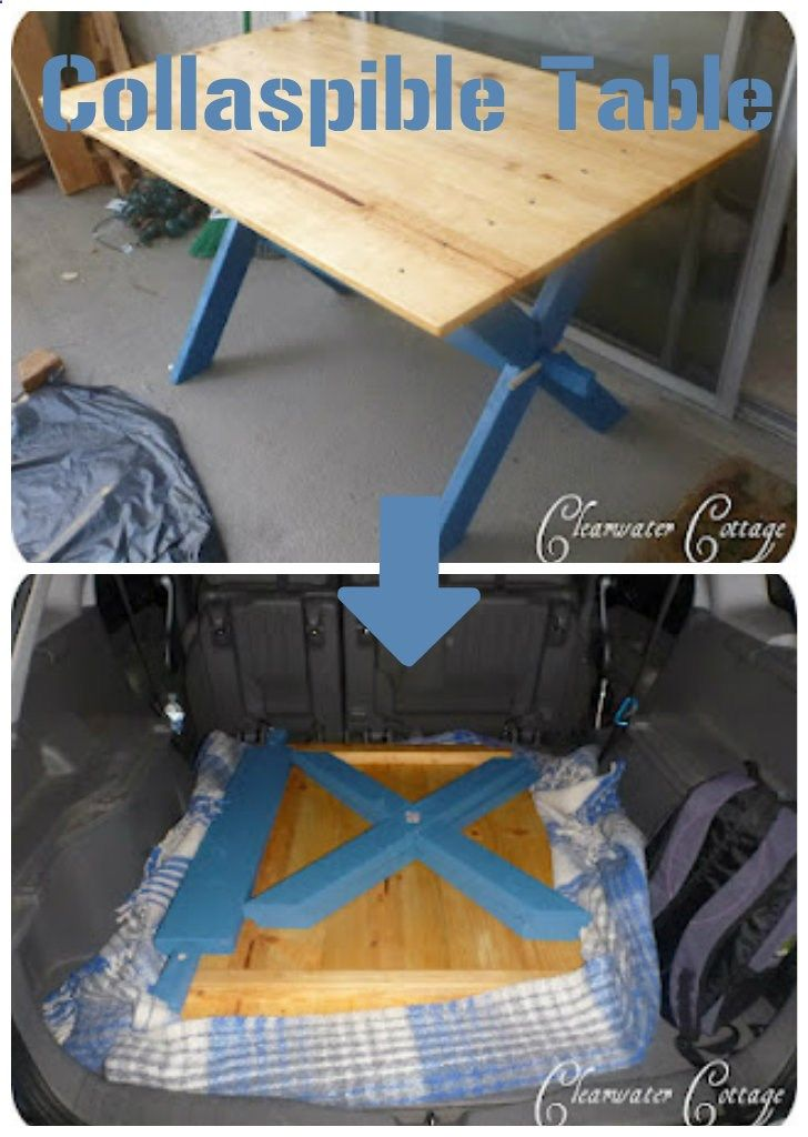 Camping Table - How to build a Collapsible Camp Table that fits in your car!