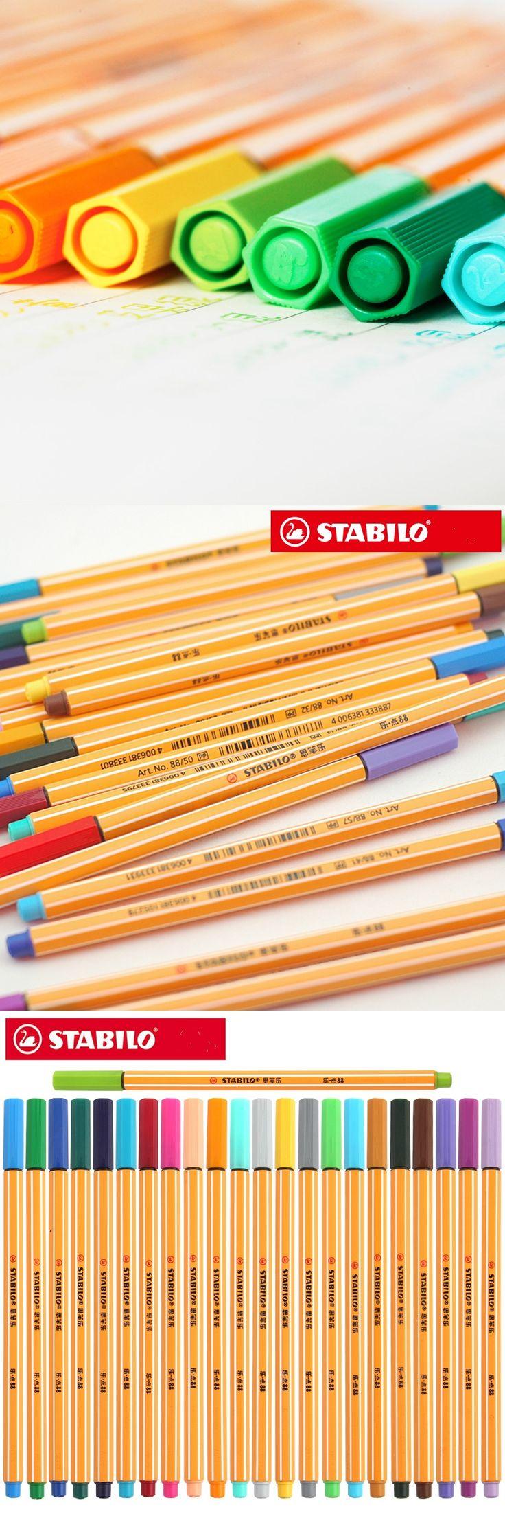25pcs Germany STABILO 88 fiber pen 0.4mm fine sketch needle technical pen multifunction ink gel pen marker paperlaria escolar