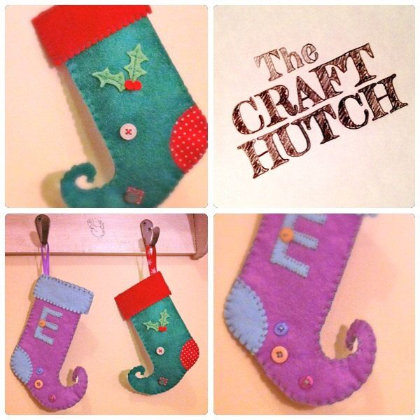 Mini Elf Stockings - pinned by pin4etsy.com