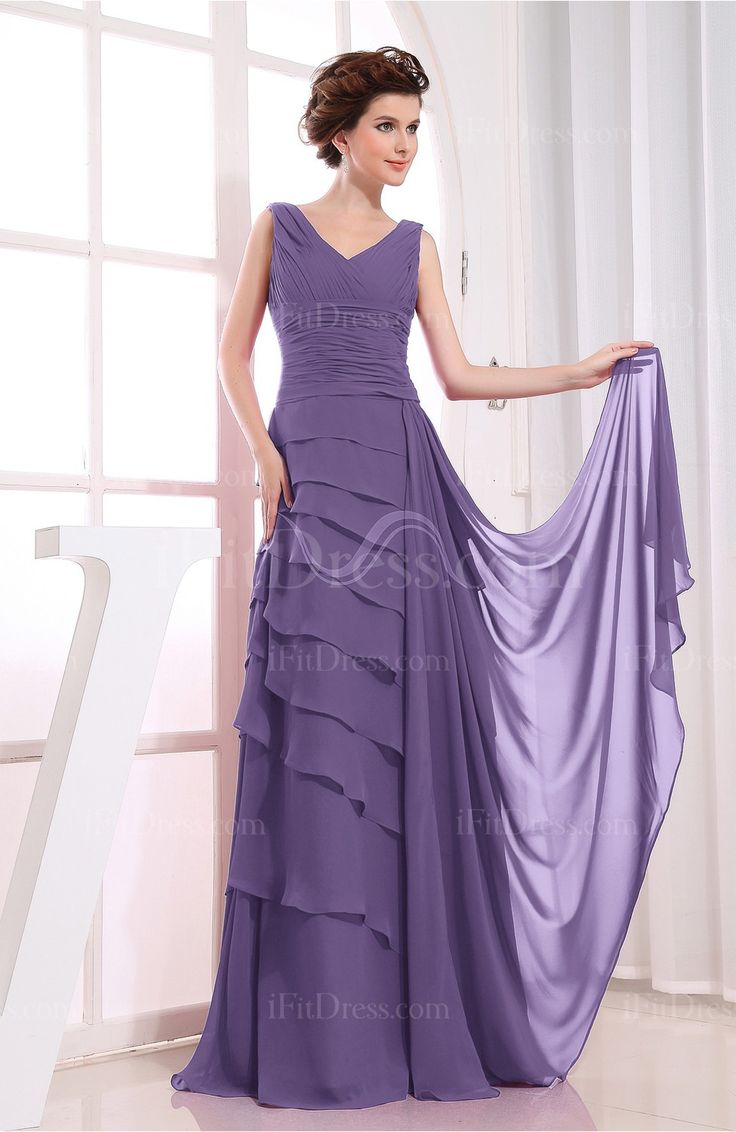 86 best pretty purple dresses images on pinterest evening lilac modest a line v neck zipper chiffon ruching bridesmaid dresses ifitdress ombrellifo Images
