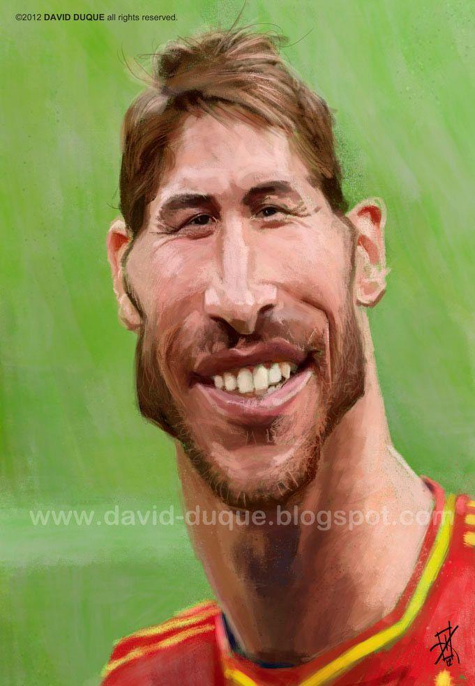 Caricatura de Sergio Ramos.