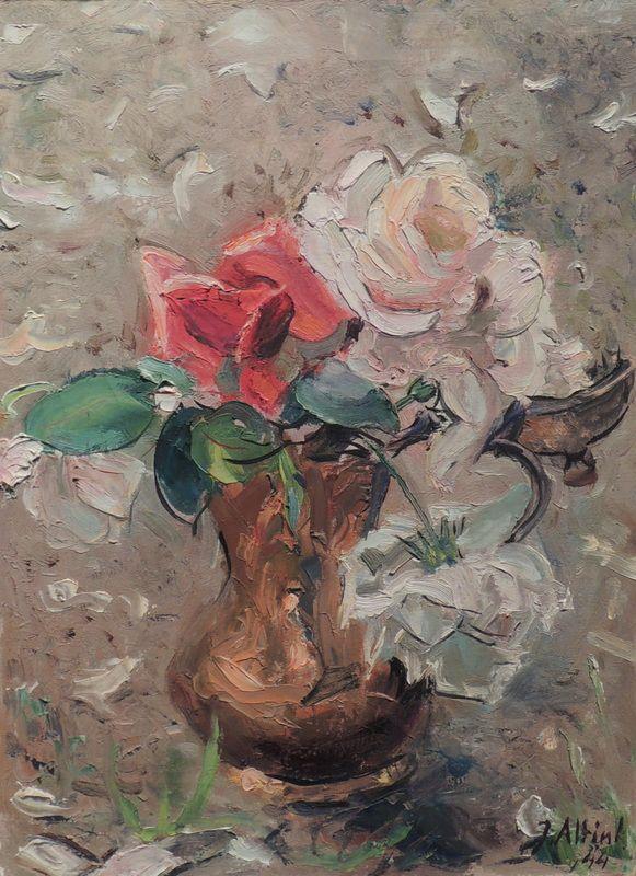 Jan Altink, bloemen in vaas 1944