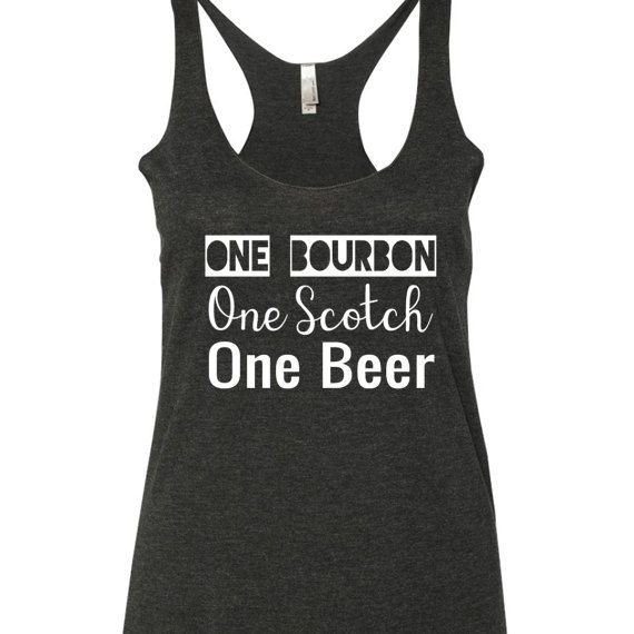 One Bourbon One Scotch One Beer Tank Top. Eric Church tank top. Eric Church Shirt. Having a record year by SouthernCharme