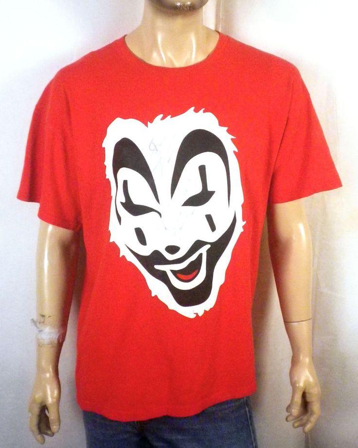 vtg 90s ICP Insane Clown Posse Violent J T-Shirt AUTOGRAPHED signed Twiztid XL