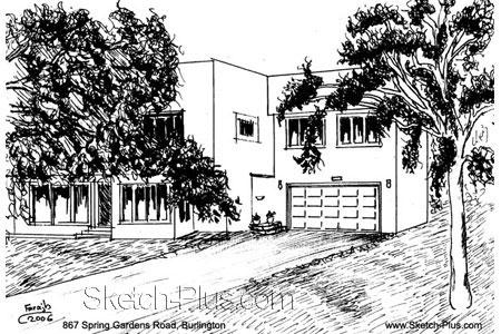House Sketch of 867 Spring Gardens Road, Burlington