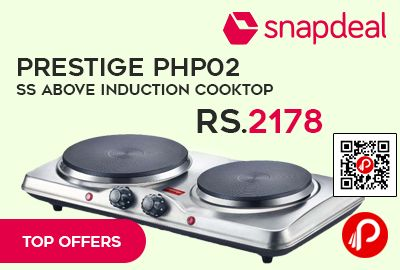 Snapdeal #Top #Offers is offering 27% off on Prestige PHP 02 SS Above Induction Cooktop at Rs.2178 Only. Its stunning, ergonomic design and advanced technology, and it is here to change the way you cook for good.   http://www.paisebachaoindia.com/prestige-php02-ss-above-induction-cooktop-at-rs-2178-only-snapdeal/