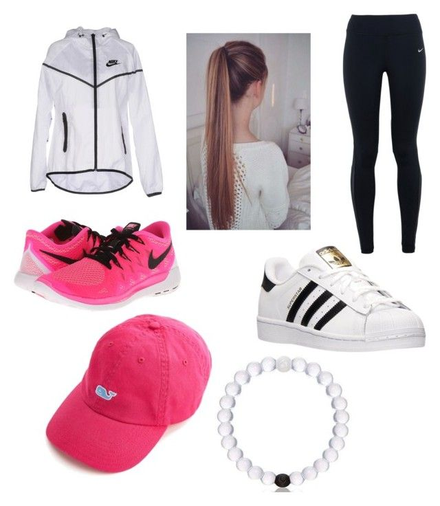 """Cute and athletic look for school! ✨"" by foxfire1344 on Polyvore featuring beauty, NIKE and adidas"