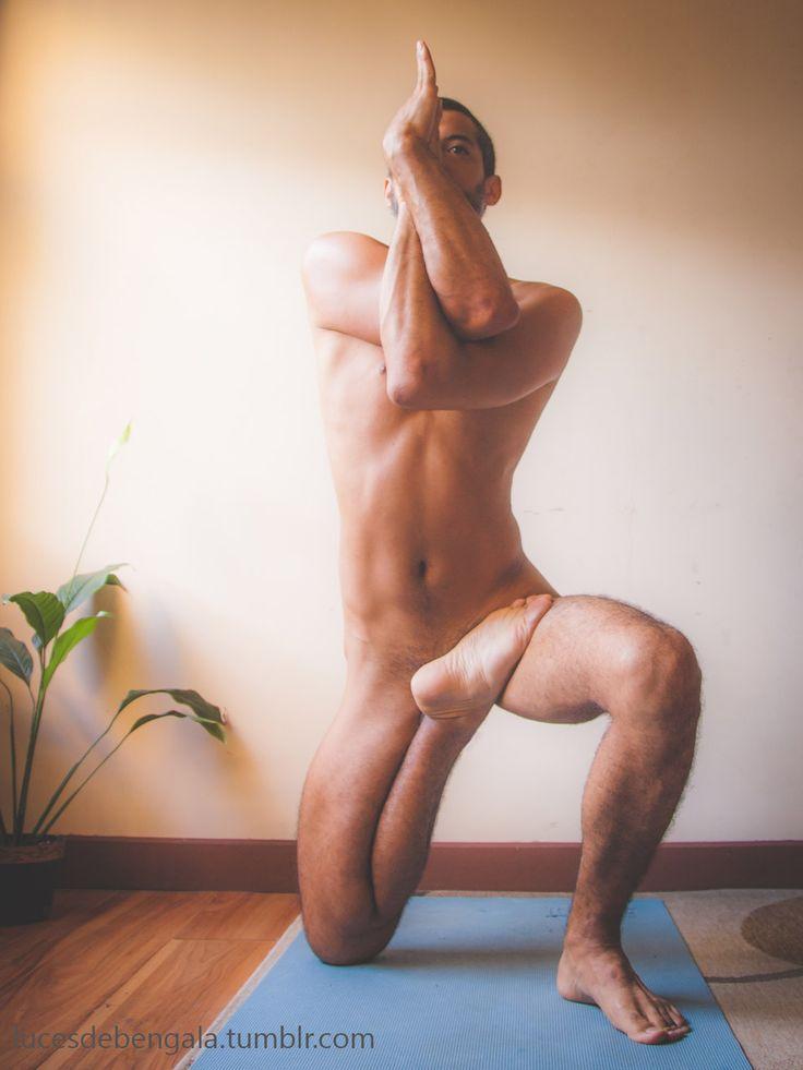 Nude yoga handstand-2054
