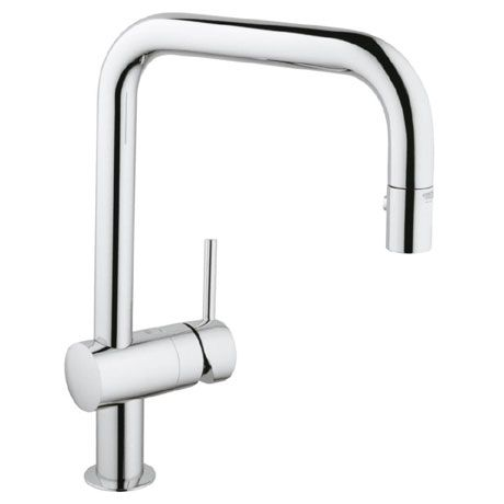 Grohe Minta Kitchen Sink Mixer with Pull Out Spray - Chrome - 32322000