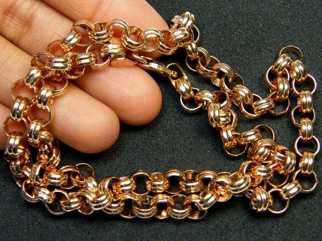 9 K GOLD CHAIN ROSE GOLD 36.90 GRAMS L 413