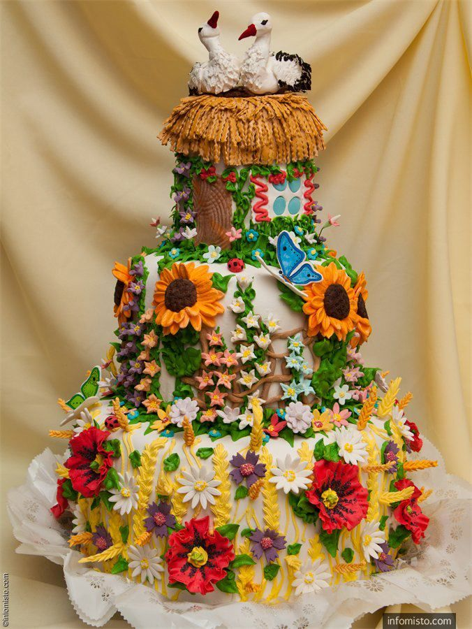 Ukrainian wedding cake