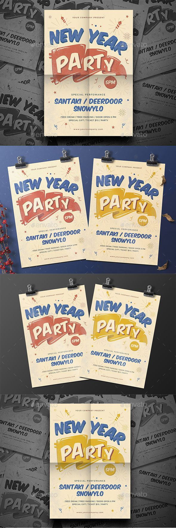 business party invitation letter templates%0A New Year Party Flyer
