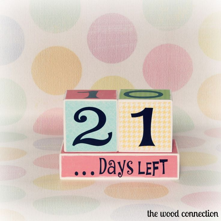 The Wood Connection - Countdown Blocks, $5.99 (http://thewoodconnection.com/countdown-blocks/)