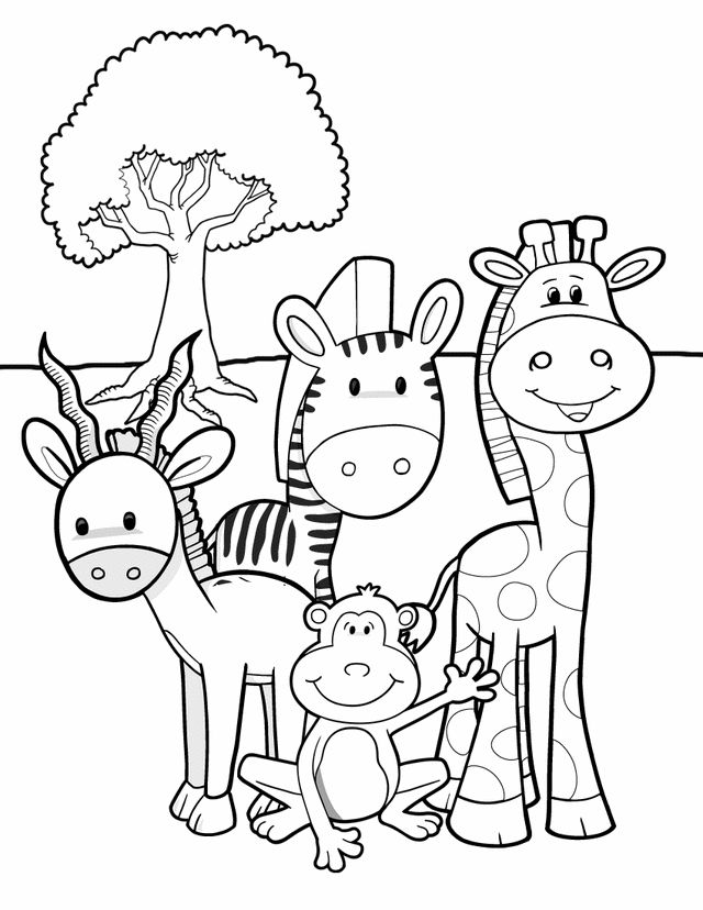 safari friends free printable coloring pages or animal coloring bookcrayons for party favor