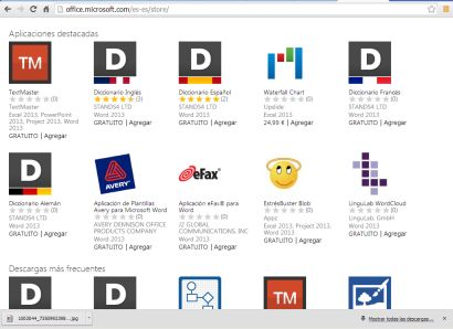 Apps para Ms Office 2013