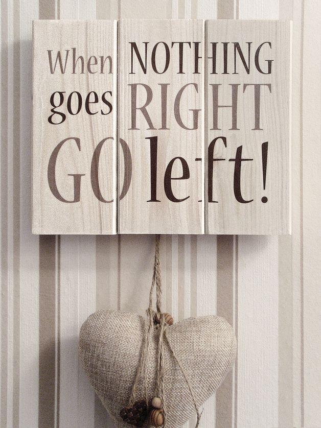Holzschild Spruch Leben