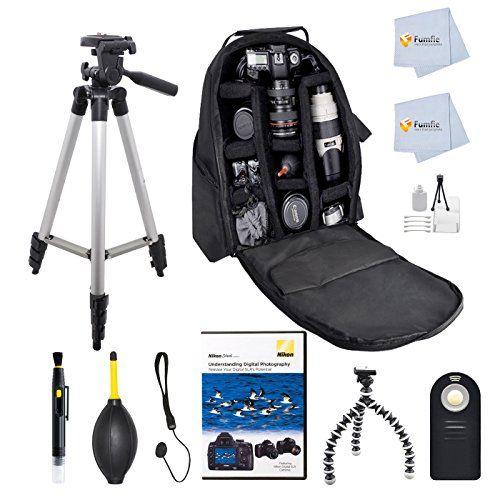 "Advanced Accessory Kit for Nikon D3000, D3100, D3200, D3300, D5000, D5100, D5200, D5300, D7000, D7100, D40, D50, D60, D70, D80, D90, D600, D610, D700, D750 , D800, D800E, DF, D4, D4s + Nikon 1 J1, J2, J3, J4, S1, S2, , V1, V2, V3, AW1 Includes: 50"" Tripod + Backpack + Nikon Understanding Digital Photography DVD + Lens Cleaning Pen + Dust Blower + Starter Kit & more Fumfie http://www.amazon.com/dp/B00P2S4B6E/ref=cm_sw_r_pi_dp_ruLVub14VFBAX"