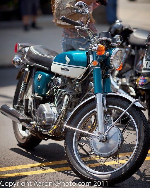 Motorcycle - My 1969 Honda CB 350 motorcycle.
