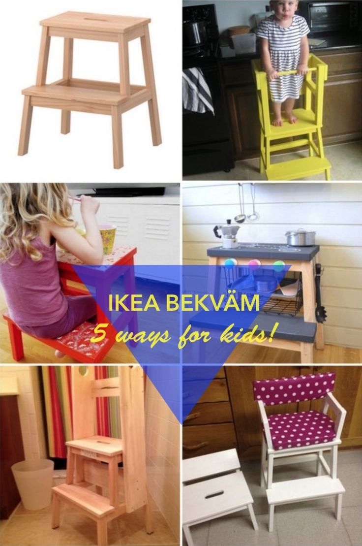 5 fun ways to use the BEKVAM step stool for kids | IKEA Hackers