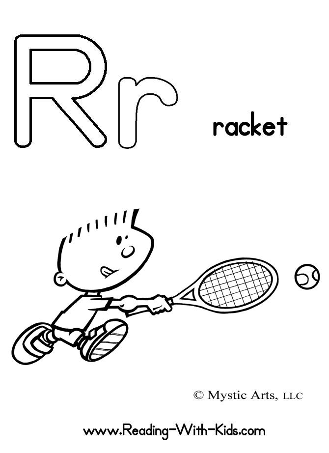 letter r coloring sheet