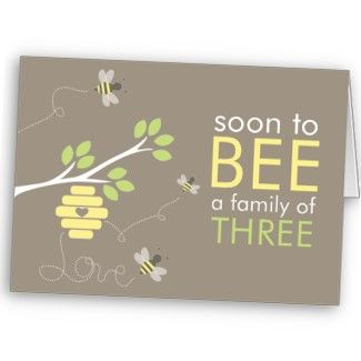 Bee Family Baby Shower Invitation