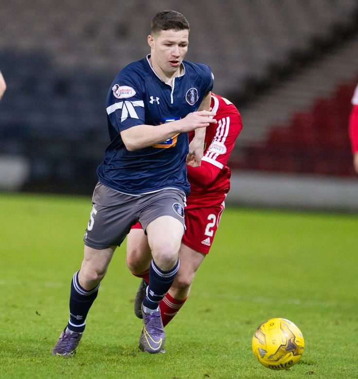 Queen's Park's Conor McVey in action during the Ladbrokes League One game between Queen's Park and Albion Rovers.