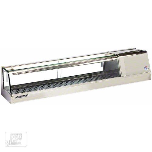 """Yoshimasa (YMSC-5R) - 60"""" Right-Handed Curved Glass Sushi Case- YMSC Series 