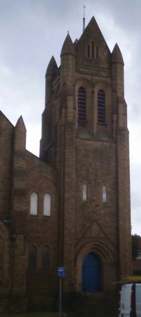 Steeple on church in Gateshead